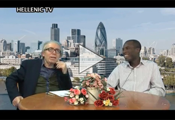 Ade Durojaiye's interview on Hellenic TV in London