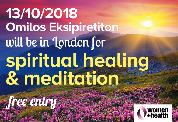 Omilos will be at Women+Health to offer spiritual healing and meditation on 13 Oct 2018